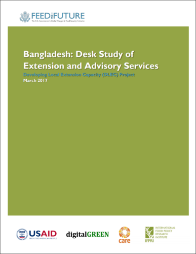 Bangladesh: Desk Study of Extension and Advisory Services