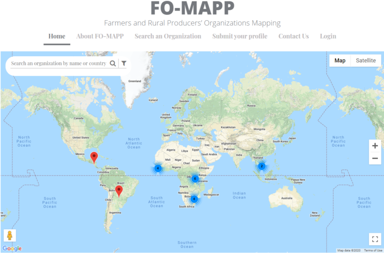 FO-MAPP: An Interactive Online Database in Mapping Farmers' Organizations